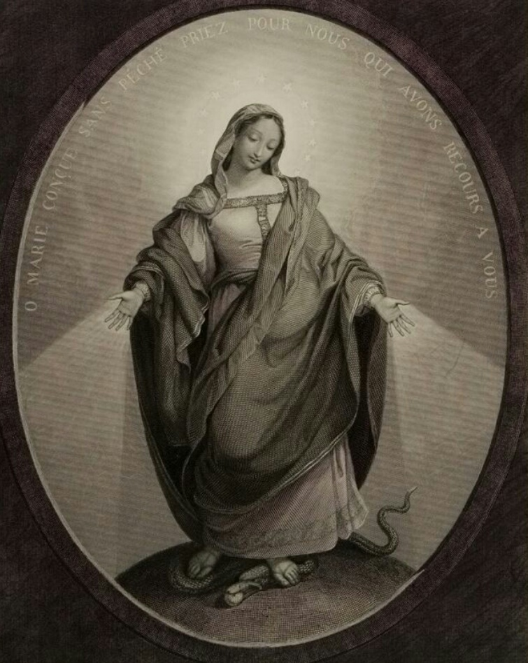 A Parisian print of Our Lady of the Miraculous Medal