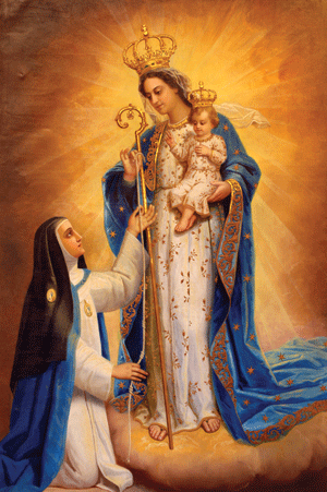 Our Lady of Good Success-measurement-painting